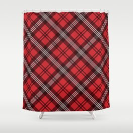 Scottish Plaid (Tartan) - Red Shower Curtain