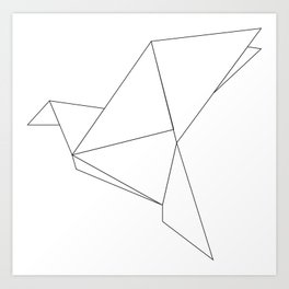 Geometric Bird  Art Print
