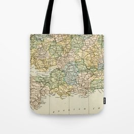 England and Wales Vintage Map Tote Bag