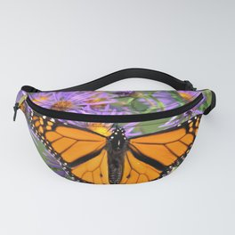Monarch Butterfly on Wild Aster Flower Fanny Pack
