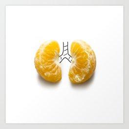 Mandarine lungs Art Print