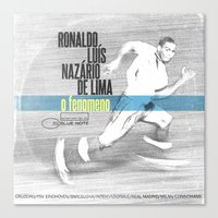 ronaldo Canvas Prints featuring LPFC: Ronaldo by James Campbell Taylor