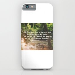 Isaiah 44 3 #bibleverse #scripture iPhone Case