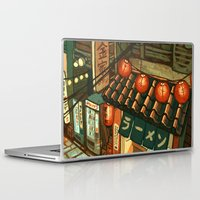ramen Laptop & iPad Skins featuring Ramen in the Alley by Kerri Aitken