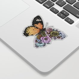 Butterfly in Bloom II Sticker