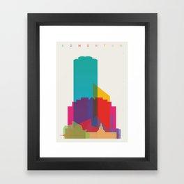 Shapes of Edmonton Framed Art Print
