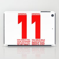 arsenal iPad Cases featuring Mesut Ozil Chant by Maxvtis