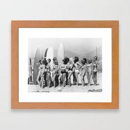 Bikini Contest Framed Art Print