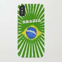 brazil iPhone & iPod Cases featuring Brazil  by 01 CLIC factory