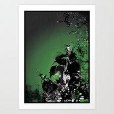GREEN BASS Art Print