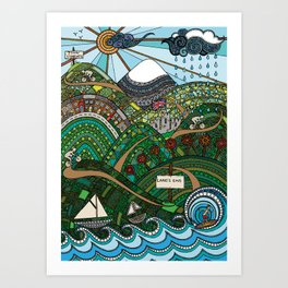 'Land's End to John O'Groats' Art Print