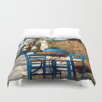 greece Duvet Covers featuring Greece #3 by lularound