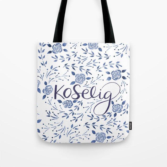 Koselig - Blue Tote Bag