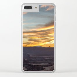 Island in the Sky Sunset II Clear iPhone Case