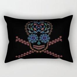 Marine Creatures Skull Rectangular Pillow