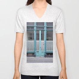 Blue door Unisex V-Neck