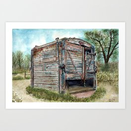 Farm Pigsty with a Difference Art Print