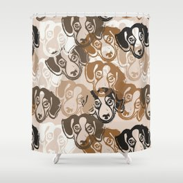 Beagles! Shower Curtain