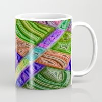 agate Mugs featuring Agate by RingWaveArt