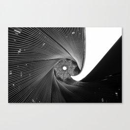 The Black Spiral Canvas Print