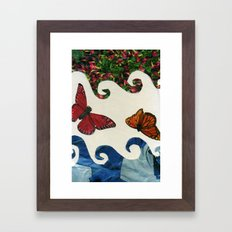 flying in circles Framed Art Print