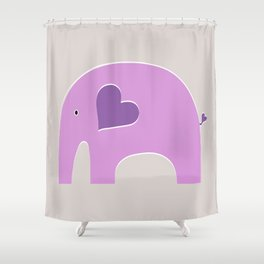 Lavender Elephant 2 Shower Curtain