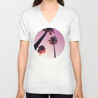 palm tree V-neck T-shirts featuring Palm tree by Emma.B