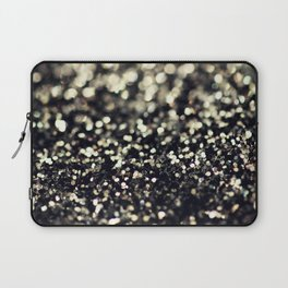 Black and Silver Glitter Laptop Sleeve