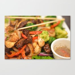 Asian Stir Fry Canvas Print