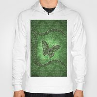 decorative Hoodies featuring Decorative butterfly by nicky2342