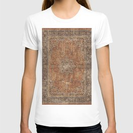 Antique Persian Mustard Rug T-shirt