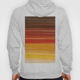 Abstract brown orange yellow sunset brushstrokes Hoody