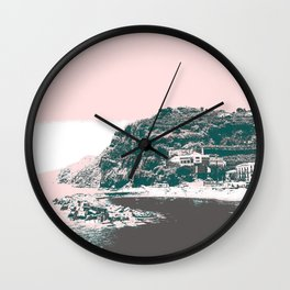 village by the sea. Wall Clock