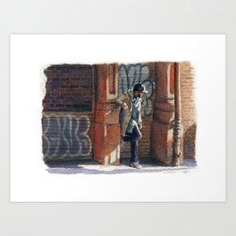 Stylish Man in Soho Art Print