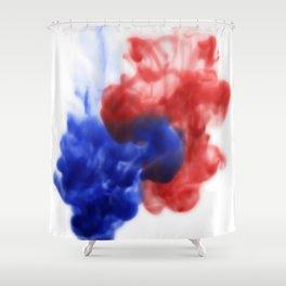 Patriotic Ink Drop Shower Curtain