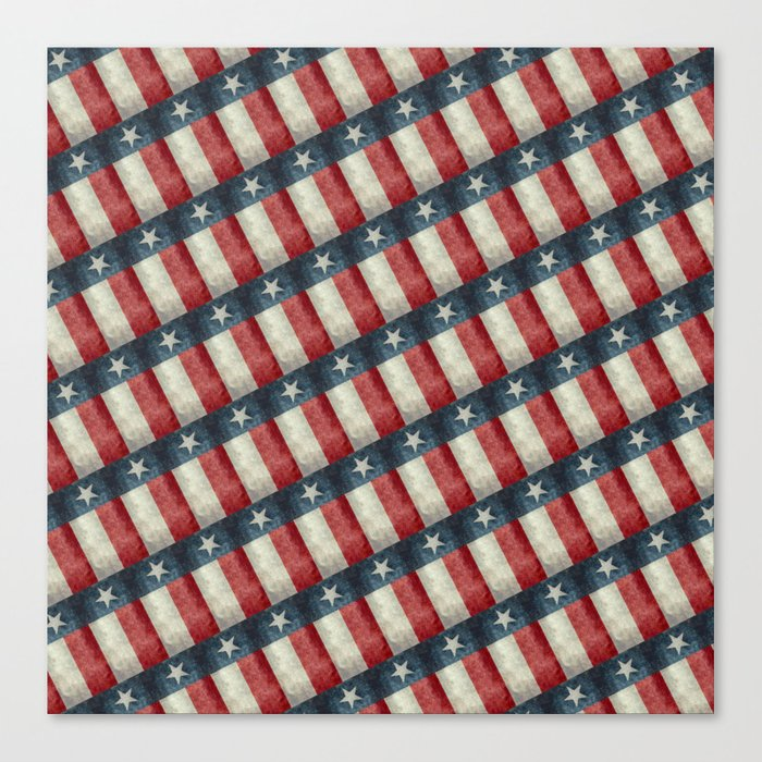 Vintage Texas flag pattern Canvas Print