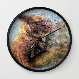 Tree Kangaroo Wall Clock