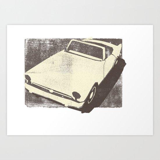 Alpine Sunbeam Art Print