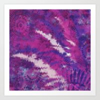 Pink and Purple Floral print Art Print
