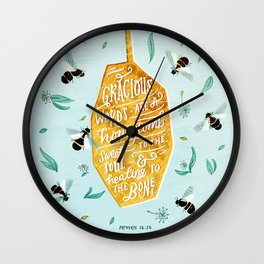 Gracious Words (Proverbs 16:24) Wall Clock