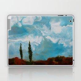 Cypress Trees encaustic wax painting by Seasons Kaz Sparks Laptop & iPad Skin