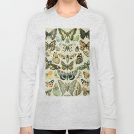 Vintage Butterfly Diagram // Papillions by Adolphe Millot XL 19th Century Science Textbook Artwork Long Sleeve T-shirt
