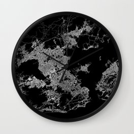 Rio map Brazil Wall Clock