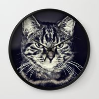 austin Wall Clocks featuring Austin by Rachel's Pet Portraits