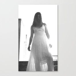 Lady in White (7 of 7) Canvas Print