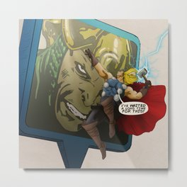 Thor - 'Google's World - M.E' Metal Print