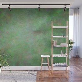 Abstract Watercolor Blend 3 Deep Dark Green and Light Green Wall Mural