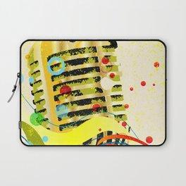 Jazz Microphone Poster Laptop Sleeve