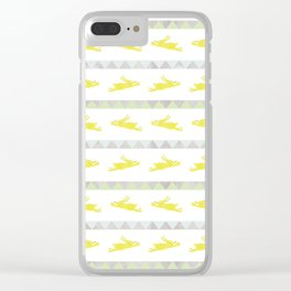 Rabbits in a Row Clear iPhone Case