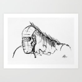 Warbot Sketch #011 Art Print